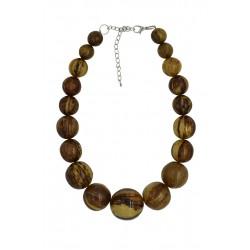 Banana Bark Beads Necklace