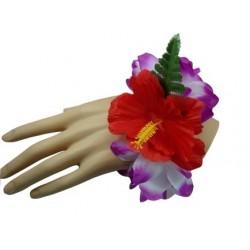 Purple & White Flower Bracelet/Anklet