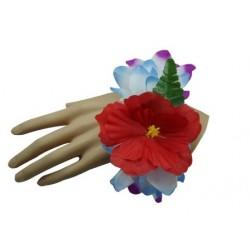 Purple & Blue Flower Bracelet/Anklet