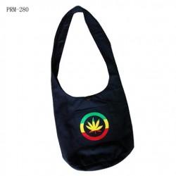 Rasta Colored Leaf Shoulder Bag