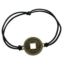 Good Luck (Chinese Coin) Pendant Bracelet