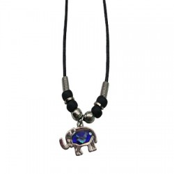 Elephant Paua Shell Necklace(Blue)