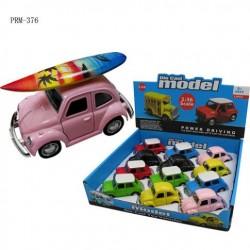 Mini Car With Surf Board Decor