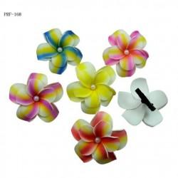 Double Plumeria Flower Hair Clip