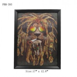 3D Picture-Rasta Lion
