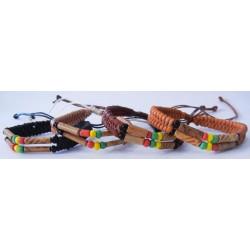 Rasta Leather Bracelet