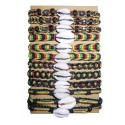 Cowry Shell Rasta Bracelet