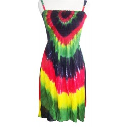 Rasta Tye Dye Women Dress