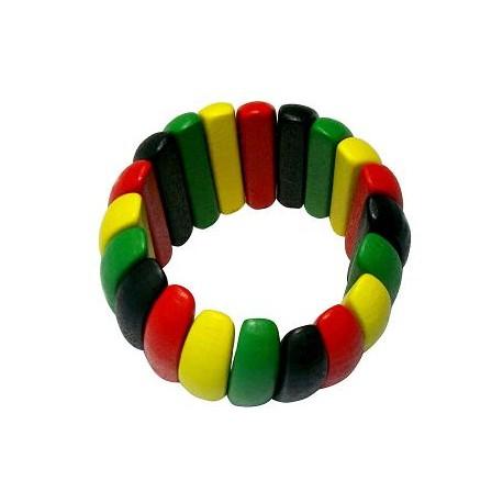 Rasta Wooden Bracelet