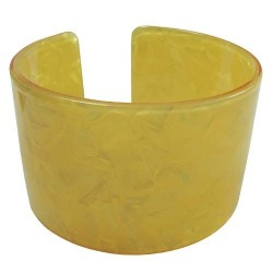 Yellow Faux Turtle Shell Bangle