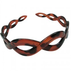 Brown Faux Turtle Shell Head Band