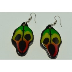 Scary Face Rasta Earring