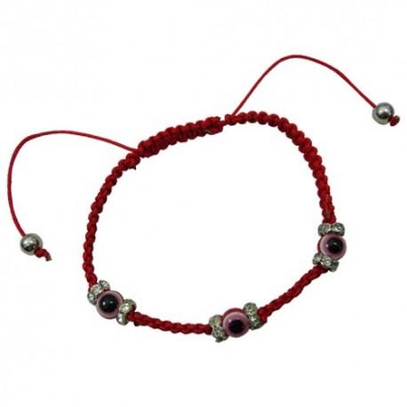 Red Eye Ball Pendant Bracelet