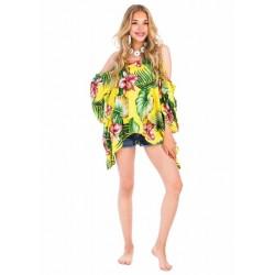 Yellow Beach Poncho Dress