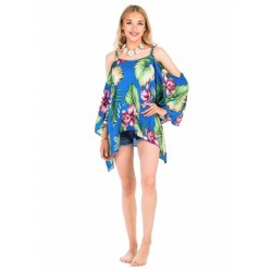 Blue Beach Poncho Dress