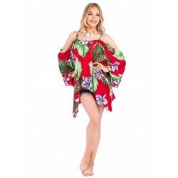Red Beach Poncho Dress
