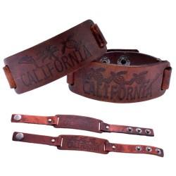"""CALIFORNIA"" Leather Bracelet"