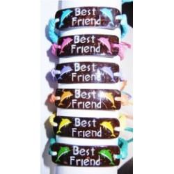 """""""Best Friend"""" Coco Dolphin Pendant Bracelet"""