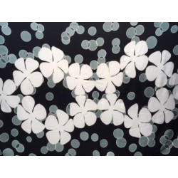Tiare Flower Hand Painted Sarong