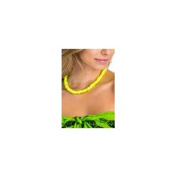 Rose Clam Shell Necklace - Neon Yellow