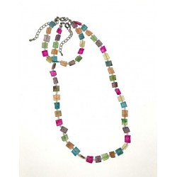 Rainbow Shell Necklace & Bracelet Set