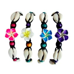 Flower With Cowry Shell Bracelet