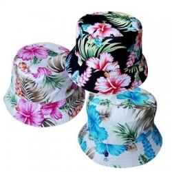 Hawaiian Flowers Bucket Hat