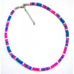 Hot Pink & Blue Shell Anklet