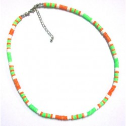 Green & Orange Shell Anklet