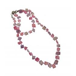 Light Purple Shell Necklace & Bracelet Set