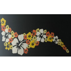Hibiscus Flower Hand Painted Sarong