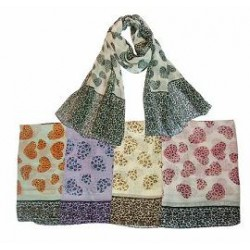 Leopard Hearts Summer Scarf