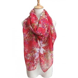 Flower Motif Summer Scarf