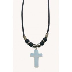 Moon Cross Pendant Necklace