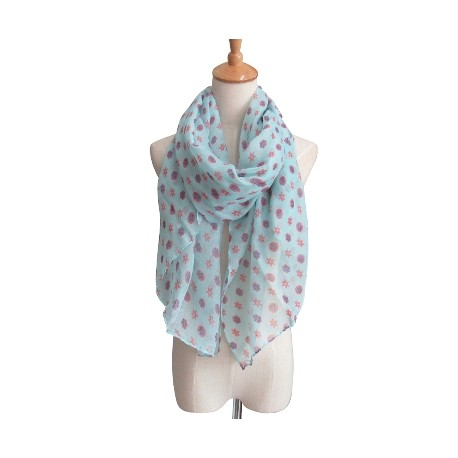 Small Flower Motif Summer Scarf