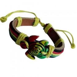 Rasta Turtle Pendant Bracelet