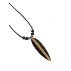 Wood Surfboard Necklace