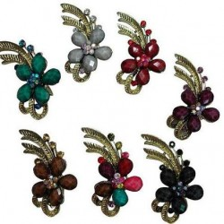 Flower With Crystal Brooch
