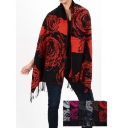 Rose Flower Pashmina Shawl