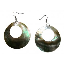 Shell Earrings-Round/Cut Out