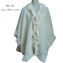 Cream Faux Fur Shawl