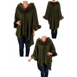 Dark Green Ladies Poncho