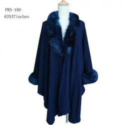 Navy Blue Ladies Poncho