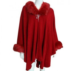 Red Ladies Poncho