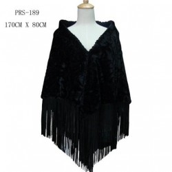 Black Faux Fur Shawl