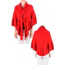 Red Winter Shawl