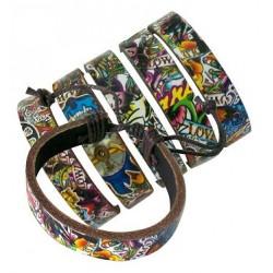Flash Tattoo Leather Bracelets