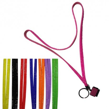 Solid Colors Lanyards With Key Ring