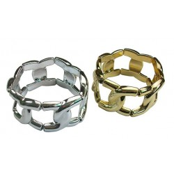 Silver And Gold Elastic Chain Bracelets