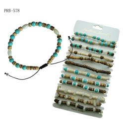 Turquoise Beads With Coconut Bracelet